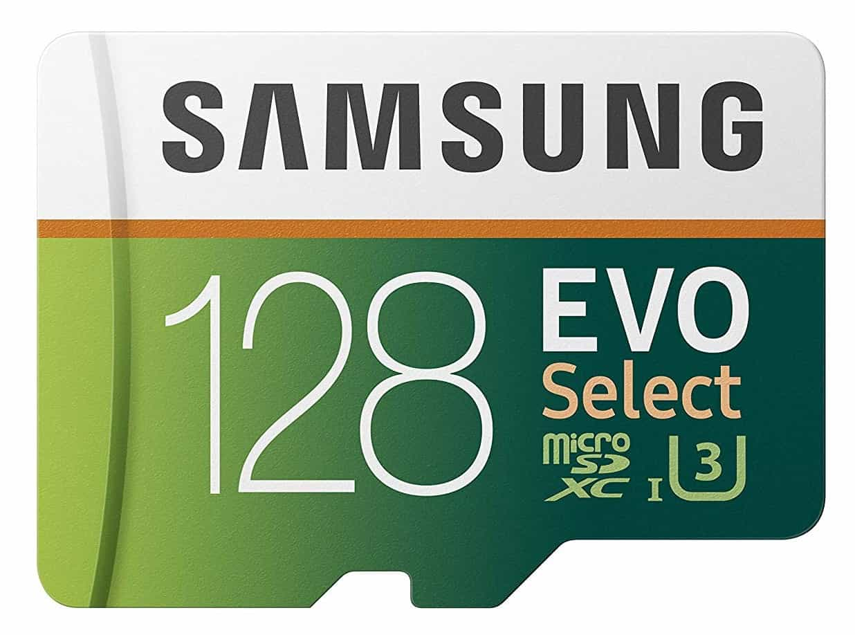 Samsung EVO Select 128GB micro sd card for action camera