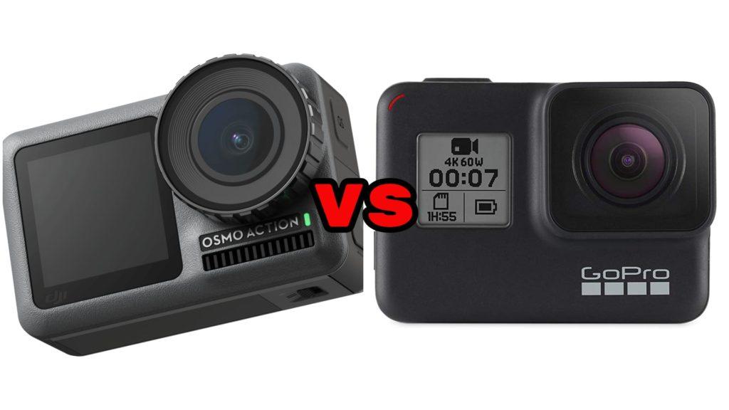 DJI Osmo Action vs GoPro Hero 7 Black comparison