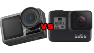 DJI Osmo Action vs GoPro Hero 7 Black comparison